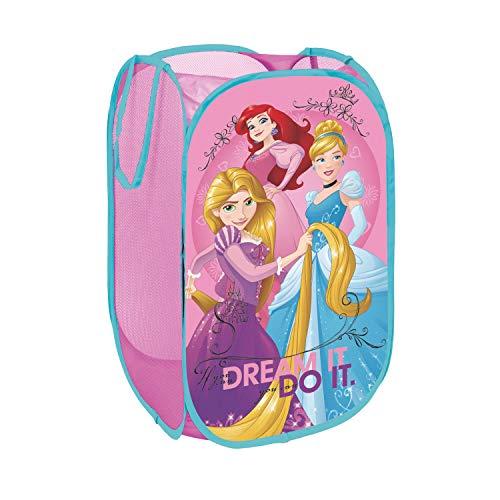 ARDITEX WD9486 Cesta pongotodo Guarda Juguetes, diseño Princesas Disney, Rosa, 59x35x25 cm