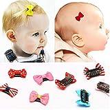cuhair 20-teiliges Baby-Haarspangen-Set, Haar-Accessoires, Sicherheits-Clip, Glatzen-Haarspange (1)