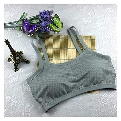 Youpin Sujetador deportivo de yoga para mujer, gimnasio, entrenamiento, correr, acolchado, chaleco atlético, ropa interior a prueba de golpes, sujetador deportivo (color: gris, tamaño: tamaño libre)