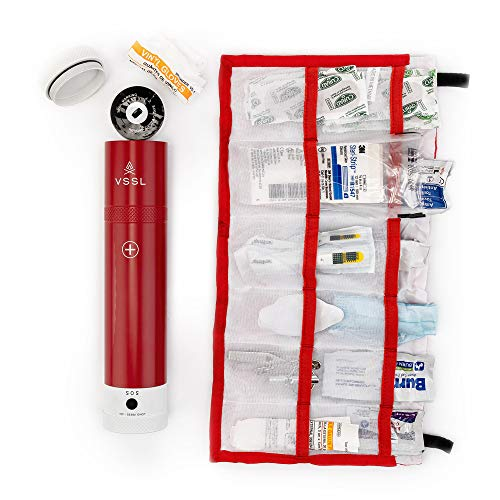 Product Image 8: VSSL First Aid – Compact Adventure First Aid Kit with 46 First Aid Essentials and 4-Mode LED Light