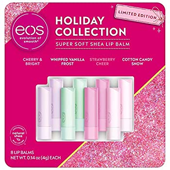 eos Holiday Collection Super Soft Shea Lip Balm Stick Limited Edition 8 Count