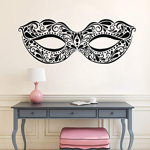 yaonuli Masquerade masker vinyl muur applique rave party art deco sticker muurschildering meisje slaapkamer decor