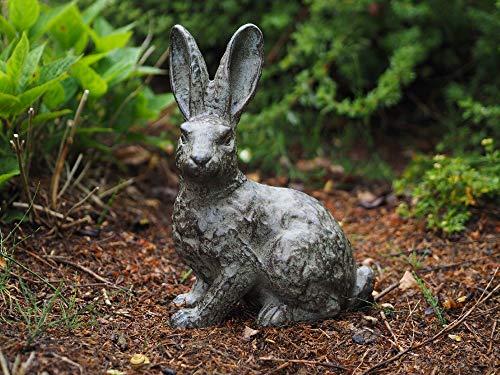 H. Packmor GmbH - Figura Decorativa para jardín, diseño de Conejo Grande, Color Bronce