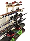 Premium Freestanding Ski Rack | Storage for: Snowboards, Skis, Skateboards, Scooters, Ripsticks, and More (6 Level)