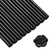 Nuanchu 15 Pieces Glue Gun Sealing Wax Sticks for Retro Vintage Wax Seal Stamp and Letter, Great for Wedding Invitations, Cards Envelopes, Snail Mails, Wine Packages, Gift Wrapping (Black)