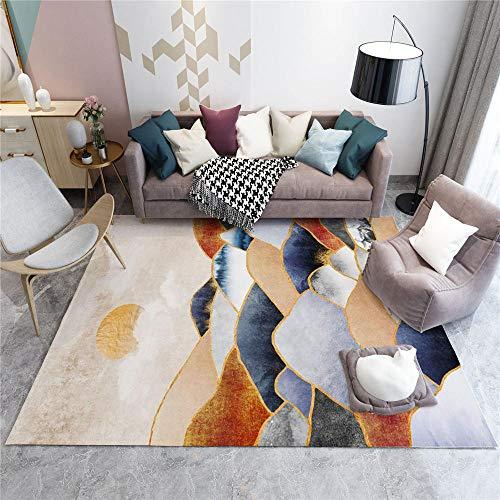 AU-SHTANG alfombras habitacion niño Alfombra de Pintura de Tinta marrón rojiza, Transpirable, fácil de Mantener, Alfombra decoloraalfombra bebé -Marrón Rojizo_Los 50x80cm
