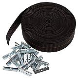 House2Home - Kit de cincha elástica para cinturón de seguridad, 2 pulgadas de ancho x 60 pies de largo, incluye clips de metal e instrucciones de instalación (idioma español no garantizado).