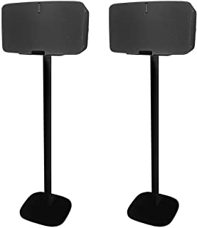 Vebos Floor Stand Sonos Five Black Set - en Optimal Experience in Every Room - Compatible with Your Sonos Five Speaker