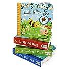 4 Pack Chunky Lift a Flap Board Books: Little Red Barn/ Little Blue Boat/Little Green Frog/Little Yellow Bee
