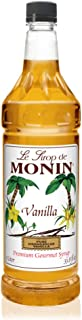 Monin - Vanilla Syrup, Versatile Flavor, Great for Coffee, Shakes, and Cocktails, Gluten-Free, Vegan, Non-GMO (33.8 Fl Oz (Pack of 1))