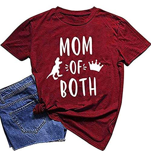 AOGOTO Damenmode Plus Size Print Tasche Bandage Casual Leinen O-Ausschnitt Bluse T-Shirt ärmellose Bluse Hemdbluse Damen Tops Tunika Damen T Shirt nölpferd T-Shirt