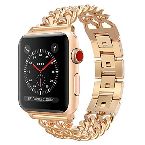 Correa de reloj Correa de acero inoxidable para Apple Watch SE 6 5 4 Band 40mm 44mm Band Metal Link Correa de pulsera para iwatch Series 1 2 3 42mm 38mm