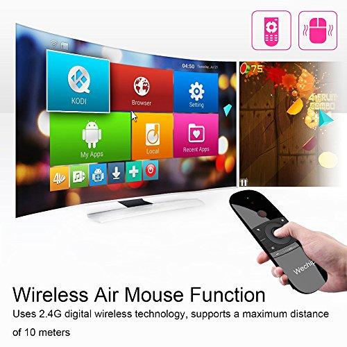WeChip Universal Fernbedienung, 2,4 G drahtlos Air Mouse Remote mit Tastatur und Mausfunktion für Android TV Box, Windows TV Box, PC, Mac, Xiaomi mibox, HTPC, Laptop