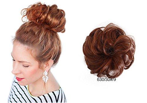 ShowPower Femme Cheveux Vague Chignon De Chouchou Extensions Bouclé Postiche Queue De Cheval BUN-630/30#/9