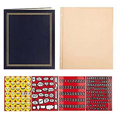 Pioneer Photo Album 100 Page + Pioneer 50 Page Refill + Scrapbook Emoji Stickers