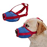 Rantow Breathable Mesh Pet Dog Muzzle - Anti Biting Barking Screaming Prevent Accidental