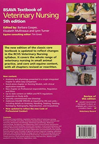BSAVA Textbook of Veterinary Nursing (BSAVA British Small Animal Veterinary Association)