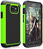 Samsung Galaxy S7 Active Case, S7 Active Heavy Duty Case, Zectoo Shock Absorbing Hybrid Impact Defender Rugged Protective Hard Case Cover for Samsung Galaxy S VII Active AT&T SM-G890 G891 - Green