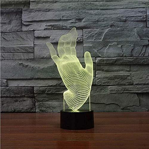 3D 16 colores lámpara de mesa para niños táctil USB palma LED noche luz bebé sueño iluminación decoración del hogar