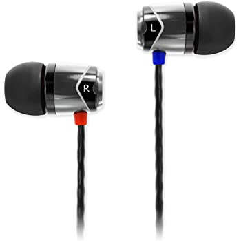 SoundMAGIC E10 Noise Isolating in-Ear Earphones Wired Earbud Headphone Powerful Bass Compatible with iOS Android Windows Phone (Gunmetal)