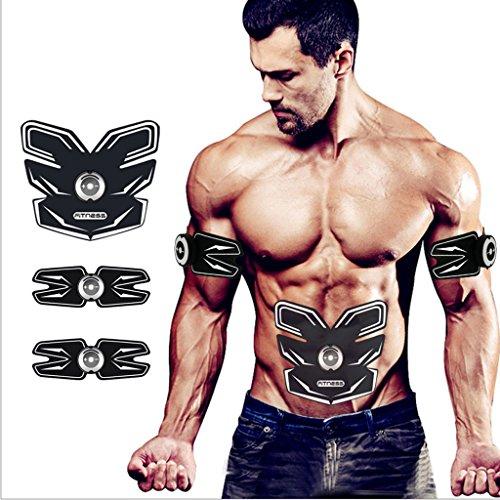 L-life Massagegürtel Bauchtrainer für Muskeltraining und GewichtsreduktionUltra-Light, Schlank, Leicht zu Tragen
