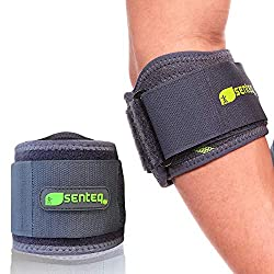 cheap SENTEQ Tennis Elbow Support Belt for the Treatment of Tendinitis and Forearm Pain