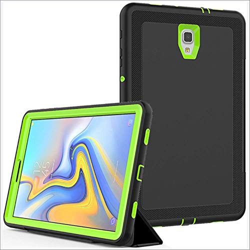 DUDUCHUN Case for Samsung Tab A 10.5 2018 Heavy Duty Rugged Shockproof Case for Galaxy Tab A 10.5 SM-T590/T595 Case with Trifold Stand Auto Wake/Sleep Cover,Black+green