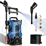 Pressure Washer 3800PSI Pressure Washer 2.8GPM Electric Power Washer 2000W Pressure Washer Machine with 4 Nozzles for Cleaning Homes, Cars, Driveways, Fences, Garden