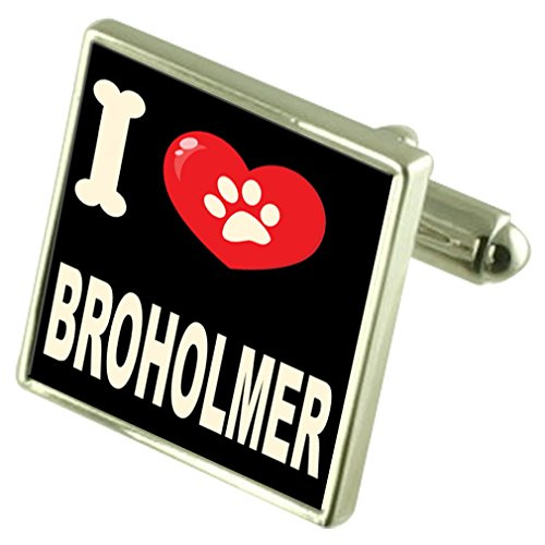 Select Gifts Argento 925 gemelli & Bond denaro Clip - io amo Broholmer