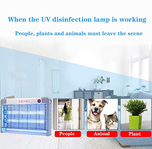 Uv-desinfectielamp met ozon/20-40 W desinfectie voor thuis en op commerciële kleuterschool, 360 ° ophanging UV-desinfectie lamp