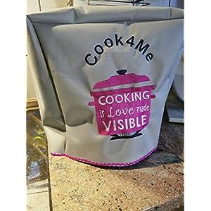 Abdeckhaube*Schutzhaube*Husse* Krups Cook4me + Connect *Cooking is Love.* Neu