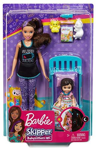 Barbie Skipper Canguro con Muñeca, Bebe con Ropa Que Brilla En La Oscuridad y Accesorios (Mattel GHV88)