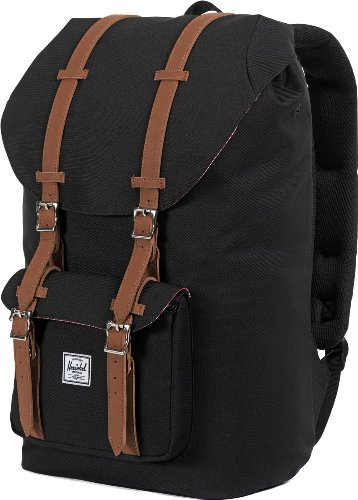 Herschel Little America Mid-Volume Rucksack 40.5 cm Black/tan Synthetic Leather