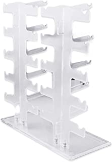 Display Stand Transparent Acrylics Good Portability Durable 2 Row 10 Pairs Sunglasses Glasses Rack Holder Frame Display Stand