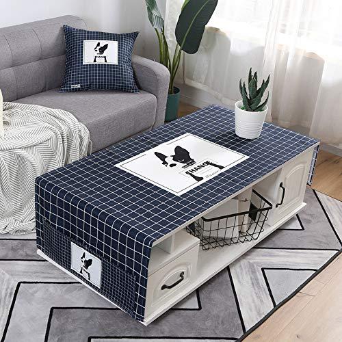 YOUYUANF Mantel Mantel Rectangular Mesa de Comedor Mantel de Lino Impermeable, fácil de Limpiar, Estilo Sencillo, Mantel Multifuncional, Interior y Exterior, 80% algodón y Lino.60x170 cm