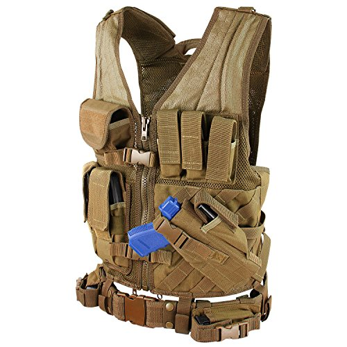 Condor CV-498 Cross Draw Vest, Coyote Brown