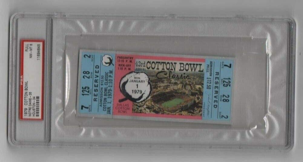 1979 Cotton Outlet SALE Bowl Full All items in the store Ticket Notre Montana Dame Houston v Chicke