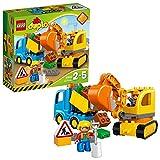 LEGO DUPLO Town - Camión y Excavadora con Orugas, manualidades niños y niñas...