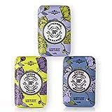 La Chatelaine Luxury Bar Soap   Natural Shea Formula   7 oz (Lavender, Lychee Bilberry, Lemon Verbena, Set of 3)