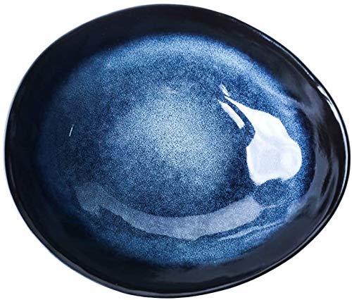 Shade Cloth SLZFLSSHPK Cuenco para Sopa ENSALADERAS Bowl cerámica Irregular Fruta Ensaladera de Gran Capacidad Ramen Bowl Restaurant Soup Bowl Noodle Bowl de Hogares