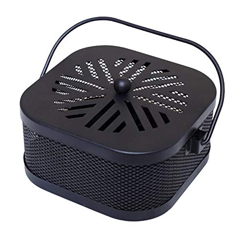 Mornenjoy Summer Decorative Mosquito Coil Holder Mosquito Coil Container,Incense Holder Safe Burning Coil Tray for Home Patio Pool Side Outdoor (Snow-Cube-Black)