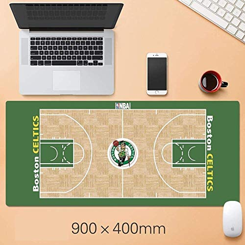 Tappetino mouse gaming tappetino mouse xxl Basket NBA Mousepad oversize Warriors Lakers Curry Corby Jordan Irving James Durant Mat, R (Color : Z)
