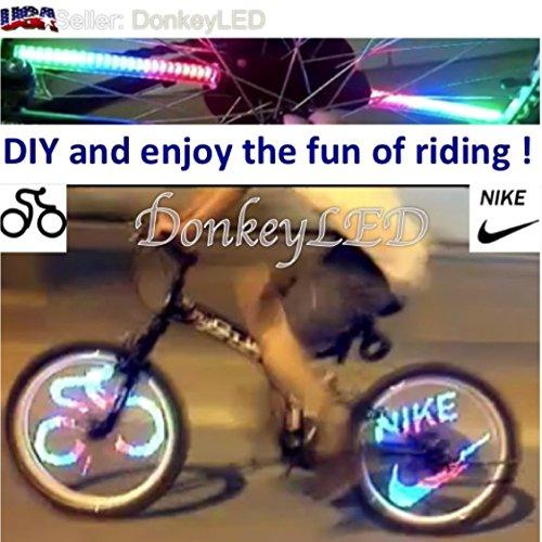 48 Full Color LED Bike Wheel Light - 48 Patterns Plus Program 20 More - Waterproof