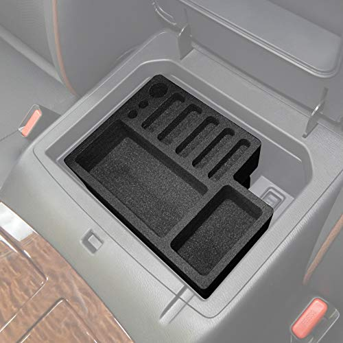 Red Hound Auto Center Console Organizer 2 Piece Stacking Set Vehicle Inserts Compatible with Nissan Armada 2017-2019 Black Anti-Rattle Made in USA