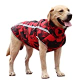 Dog Winter Warm Coat Waterproof Reflective Dog Down Jacket Vest for Cold Weather, Back Zipper Closed, Adjustable Neck