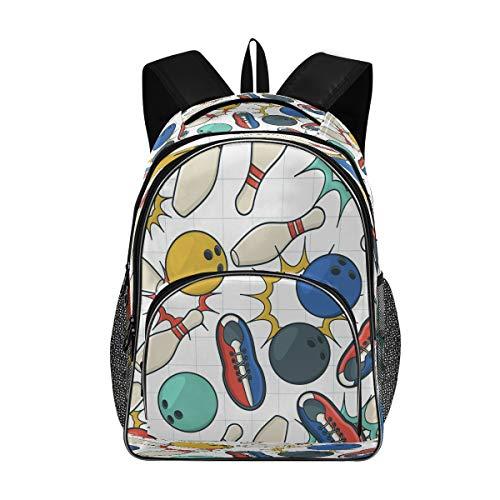 Laptop-Rucksäcke für Damen und Herren – Bowling-Cricket-Schuhe, großer Rucksack, passend für 43,2 cm (17 Zoll) Computer-Büchertasche für Schule, Business, Reisen, Fitnessstudio
