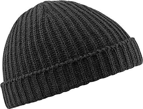 Beechfield B460 Trawler Beanie Hat Casquette de Baseball, Noir, Taille Unique Mixte