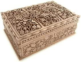 NOVICA Wood Floral Dance' Walnut Jewelry Box