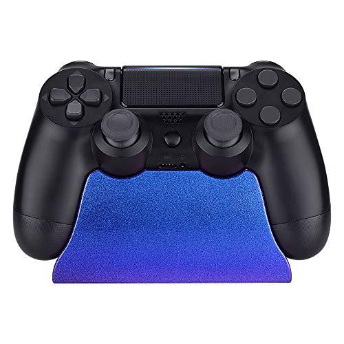 eXtremeRate Soporte de estación para Playstation 4 Mando Accesorios Gamepad Escritorio Soporte Color Brillante Holder para PS4 Slim Pro con Almohadilla de Goma(De Azul a Violeta)