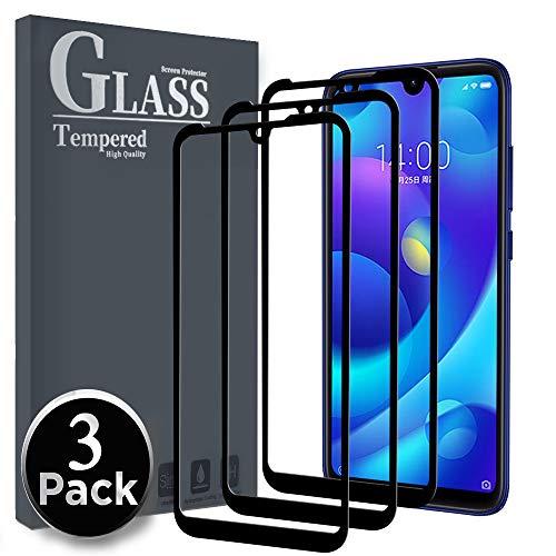 Gehärtetes Ferilinso-Glas für Xiaomi Mi Play, [3 Pack] [Gesamtabdeckung] [Vollklebstoff] [Selbstabsorption] [Richtig] Schutzfilm für gehärtetes Glas Xiaomi Mi Play (Schwarz)